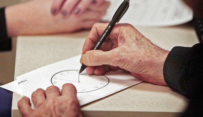 Тест рисование часов на деменцию